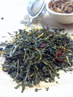 Grüner Tee Brombeere