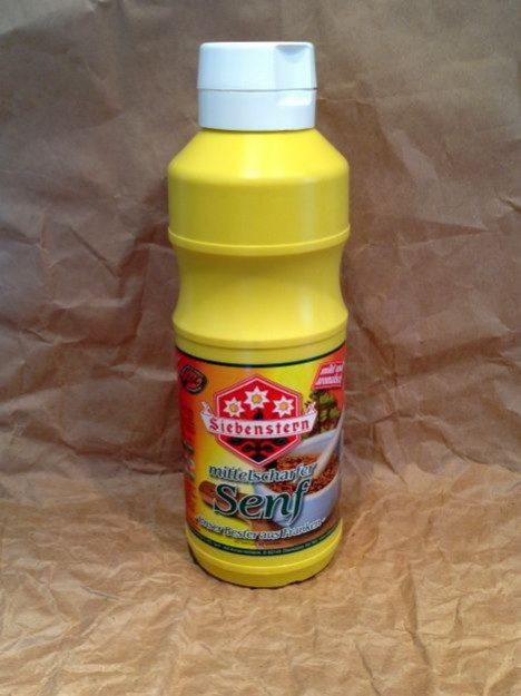 Mittelscharfer Senf 1000ml Flasche 1000ml