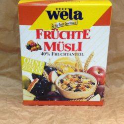 Wela Vollkorn Früchte Müsli