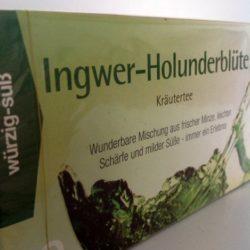 Ingwer Holunder Kräutertee von Gewürzversand Munzert