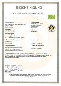 Wela BIO Zertifikat